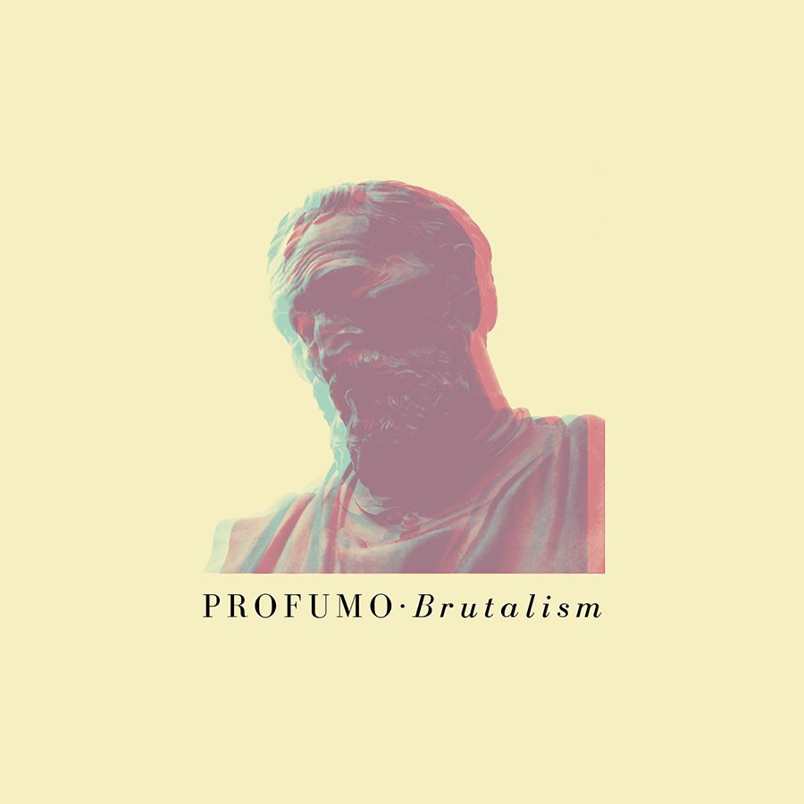 Cover artwork for Profumo's 'Brutalism' EP (Forgotten City Records, 2015)