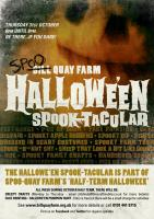 Poster design for Bill Quay Farm's Hallowee'en events programme.
