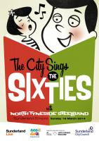 Programme cover for this year's 'The City Sings' event for Sunderland Live.