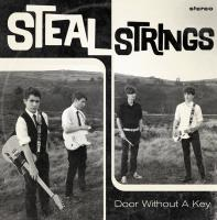 Cover artwork for Teesside band Steal String's 'Door Without A Key' EP. Band pho