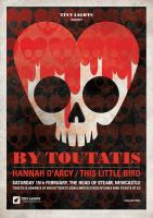 Poster design for Tiny Lights presents By Toutatis (with Hannah D'Arcy and This